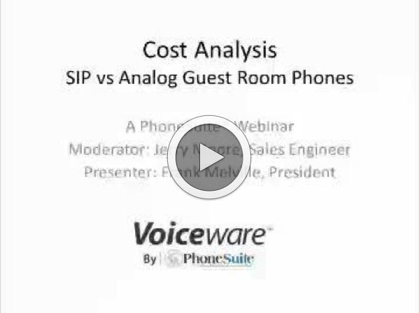 Real Cost Comparisons: SIP vs Analog Webinar