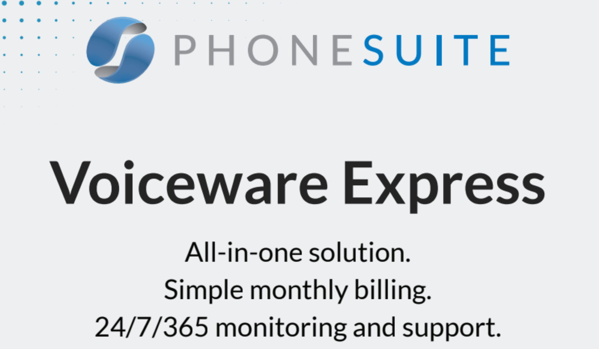 Phonesuite Announces Voiceware Express